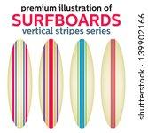 surfboards design. vertical...   Shutterstock .eps vector #139902166