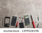disassembled mobile phone and...   Shutterstock . vector #1399028198