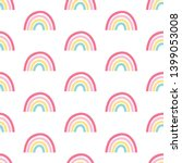 hand drawing  rainbow pattern... | Shutterstock .eps vector #1399053008