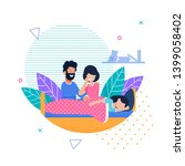 cartoon married couple  mother... | Shutterstock .eps vector #1399058402