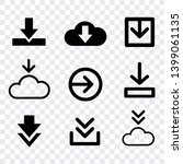 download icons sign isolated... | Shutterstock .eps vector #1399061135