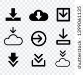narrow download vector ... | Shutterstock .eps vector #1399061135