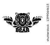 ferocious bear attacking vector ... | Shutterstock . vector #1399064615