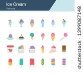 ice cream icons. flat design....
