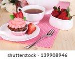 Beautiful Strawberry Cupcake...