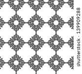 vector floral damask | Shutterstock .eps vector #139909288