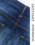 back of denim blue jeans with... | Shutterstock . vector #1399111292