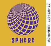 abstract sphere logo symbol... | Shutterstock .eps vector #1399138412