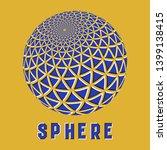 abstract sphere logo symbol... | Shutterstock .eps vector #1399138415