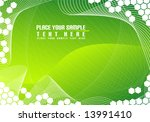 green abstract background | Shutterstock .eps vector #13991410