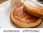 homemade stack of pancakes with ... | Shutterstock . vector #1399152662