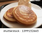 homemade stack of pancakes with ... | Shutterstock . vector #1399152665