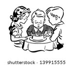 kids birthday party   retro... | Shutterstock .eps vector #139915555