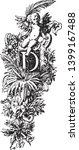 an ornamental capital letter d... | Shutterstock .eps vector #1399167488