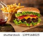 hamburger and fried potatoes...