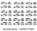 realistic car. big cars set.... | Shutterstock .eps vector #1399177265