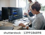 group of brokers working... | Shutterstock . vector #1399186898