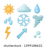 set of handdrawn weather icons...   Shutterstock .eps vector #1399188632