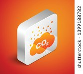 isometric co2 emissions in... | Shutterstock .eps vector #1399188782