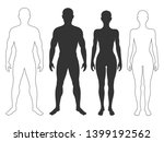 male and female body... | Shutterstock .eps vector #1399192562