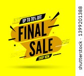 final sale banner  up to 70 ... | Shutterstock .eps vector #1399201388