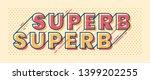 banner design in retro style... | Shutterstock .eps vector #1399202255