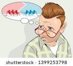 vector illustration of metaphor ...   Shutterstock .eps vector #1399253798