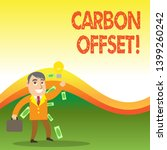 text sign showing carbon offset.... | Shutterstock . vector #1399260242