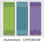 set of design yoga mats. floral ...   Shutterstock .eps vector #1399286258