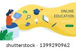 online education concept with... | Shutterstock .eps vector #1399290962