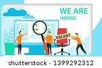 recruitment  job interview... | Shutterstock .eps vector #1399292312