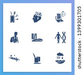 school icon set and books with...