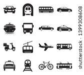 public transportation icons.... | Shutterstock .eps vector #1399308608