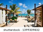 beach at tropical resort with... | Shutterstock . vector #1399309832