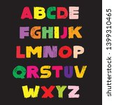 baby choice color alphabet... | Shutterstock .eps vector #1399310465