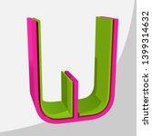 colorful big 3d letter. trendy... | Shutterstock .eps vector #1399314632