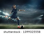 young female soccer or football ... | Shutterstock . vector #1399325558