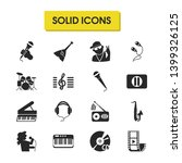 melody icons set with video...