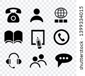 contact us icons vector... | Shutterstock .eps vector #1399334015