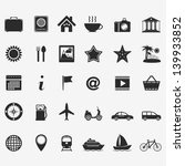 collection of travel icons ... | Shutterstock .eps vector #139933852