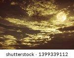 beautiful cloudscape of night... | Shutterstock . vector #1399339112