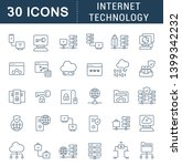set of vector line icons of... | Shutterstock .eps vector #1399342232
