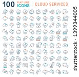 set of vector line icons of... | Shutterstock .eps vector #1399344005