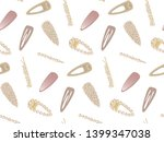 hair clip.fashionable hair pins.... | Shutterstock .eps vector #1399347038