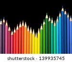 Colored Pencils Arrangement On...
