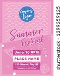 summer festival flyer template... | Shutterstock .eps vector #1399359125