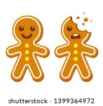 Cartoon Gingerbread Man Whole...