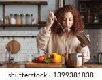 photo of pretty caucasian woman ... | Shutterstock . vector #1399381838
