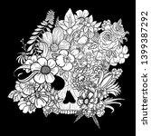 skull drawing hidden in plain...   Shutterstock . vector #1399387292