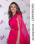 Small photo of New York, NY, USA - May 15, 2019: Elizabeth Hurley attends the Breast Cancer Research Foundation 2019 Hot Pink Party at Park Avenue Armory, Manhattan